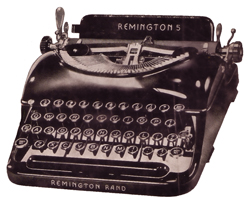 RemingtonTypewriterNewspaperCutout_resize